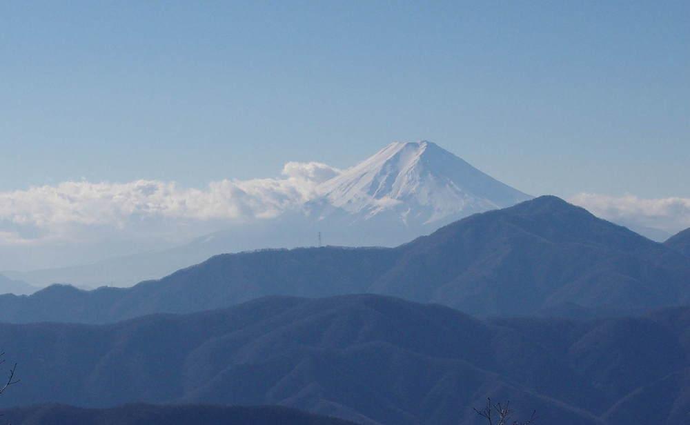 七つ石小屋からの富士山181215.JPG